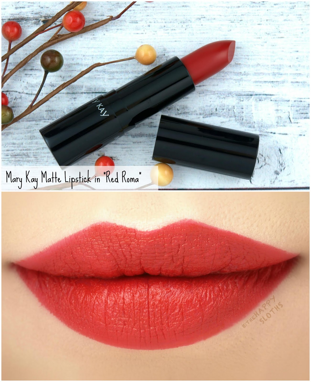 "Mary Kay | Fall 2018 Matte Lipstick in ""Red Roma"": Review and Swatches"