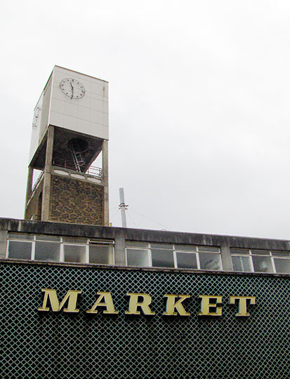 urban photography, urban photo, market, town, England, 1970s buildings, architecture, Sam Freek