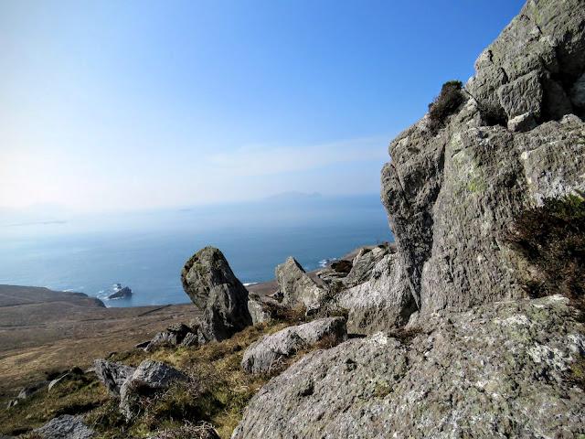 Hiking Dingle - rocky hill and sea views