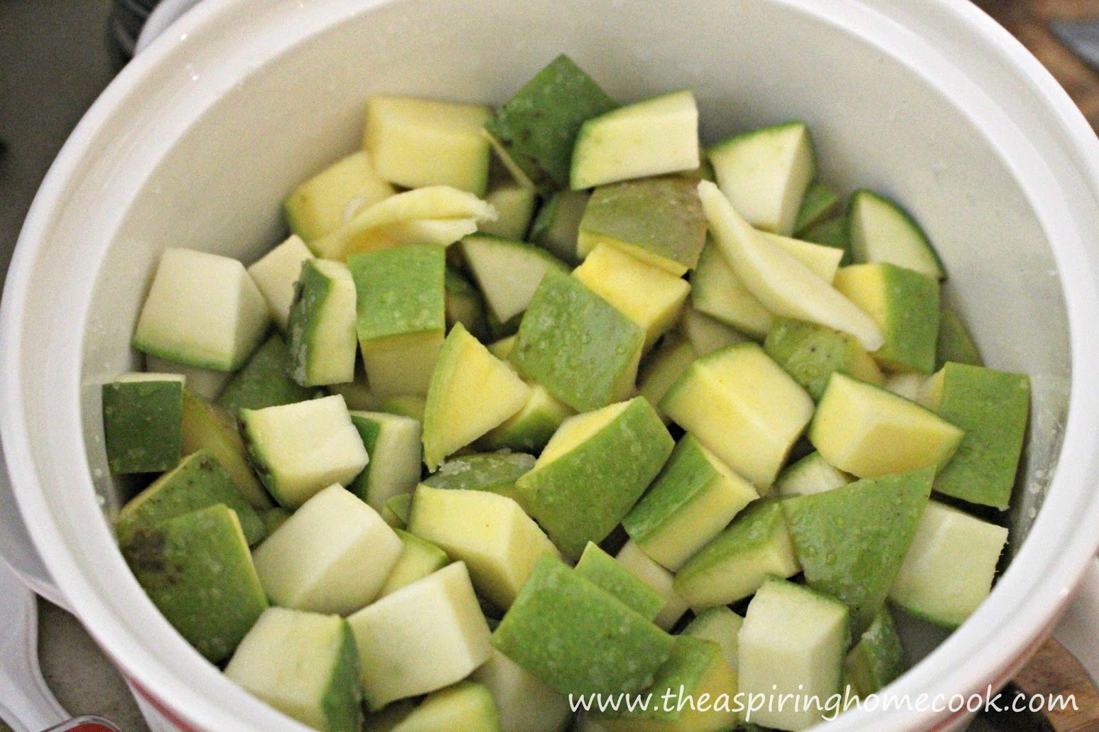Add Salt To The Cut Mango Pieces Toss Well And Keep Aside For 2030 Minutes