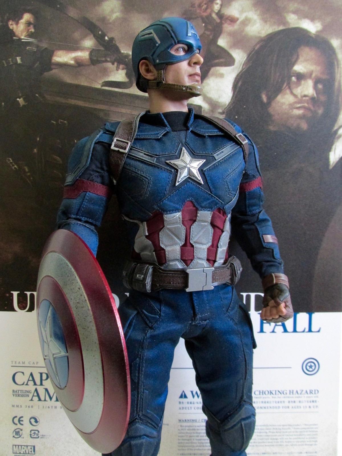 Figure Stand Hot Toys 1//6 MMS 350 Captain America Civil War