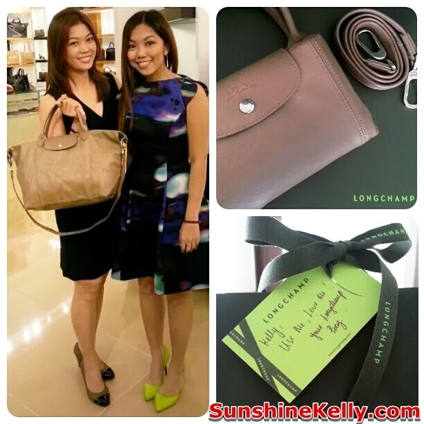 longchamp pavilion KL, new exclusive store, luxury handbag, famous fashion blogger, Le Pliage Cuir clay