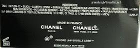 Chanel Poudre Universelle Libre sastojci
