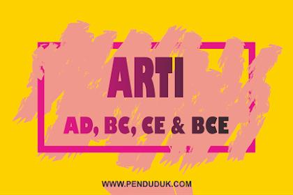Arti AD, BC, CE dan BCE pada Penanggalan