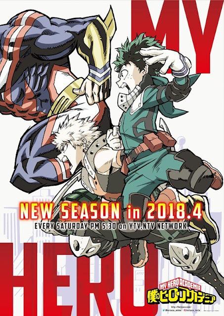 Anime My Hero Academia Anime's 3rd Season Tayang Bulan April!