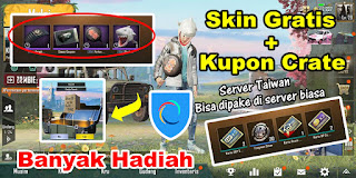 Cara Mendapatkan Skin Gratis dan Kupon Crate PUBG Mobile