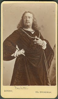 A photograph of Charles Fechter dressed as Hamlet.