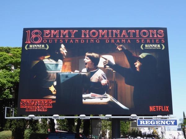 Stranger Things 2017 Emmy Nominations billboard