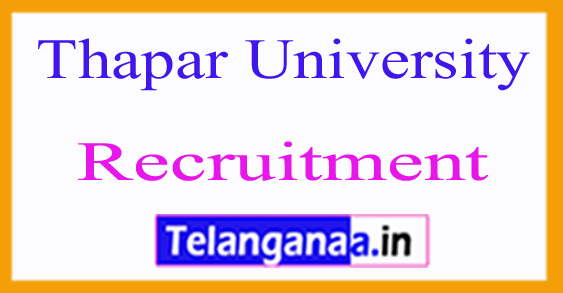 Thapar University Recruitment Notification 2017