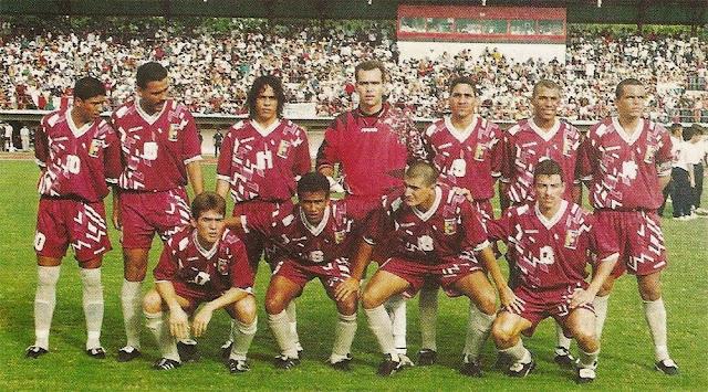 Formación de Venezuela ante Chile, Clasificatorias Francia 1998, 2 de junio de 1996