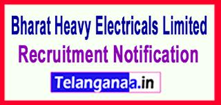 Bharat Heavy Electricals Limited (BHEL) Recruitment Notification 2017 Last Date 16-05-2017