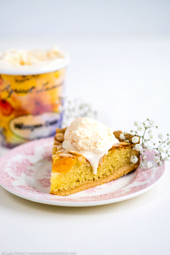 ... , Almond and Ricotta Frangipane Tart with Apricot Lavender Ice cream