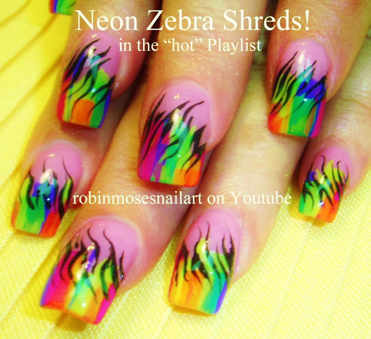 Nice Nail Designs Neon Colors Image Collection - Nail Art Design ...