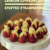 Lemon Cheesecake Stuffed Strawberries #SundaySupper