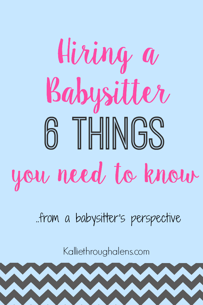 Tips on hiring a babysitter
