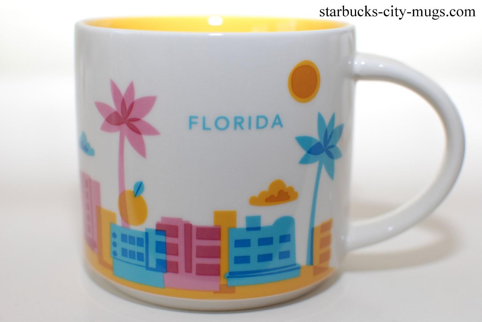 Starbucks City Mugs: Florida You Are Here