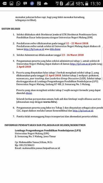 Rekrutmen/ Penerimaan 90 Guru Non PNS/ GTT Tahun 2018 Mengajar Siswa Indonesia di Malaysia
