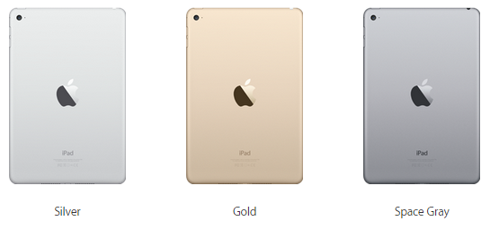 Apple iPad mini 4 - colors