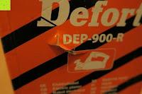 Verpackung beschädigt: Defort DEP-900-R Elektrohobel 900 W, Falzfunktion, Spanauswurfsystem