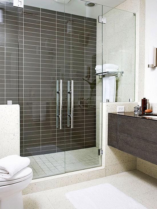 Desain Kamar Mandi Shower Minimalis Tanpa Bathub