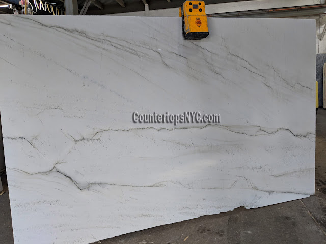 Calacatta Montblanc Quartzite Slabs for kitchen countertop