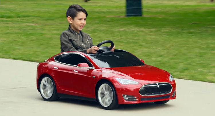 A Tesla Model S Electric Toy Car For The Kid Who Has It All
