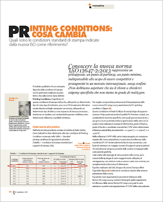 Printing Conditions, cosa cambia