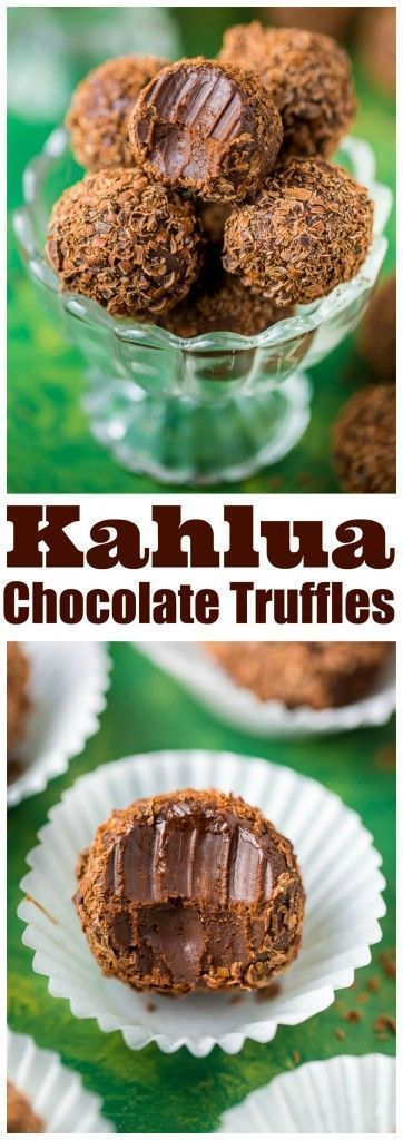 Kahlua Chocolate Truffles