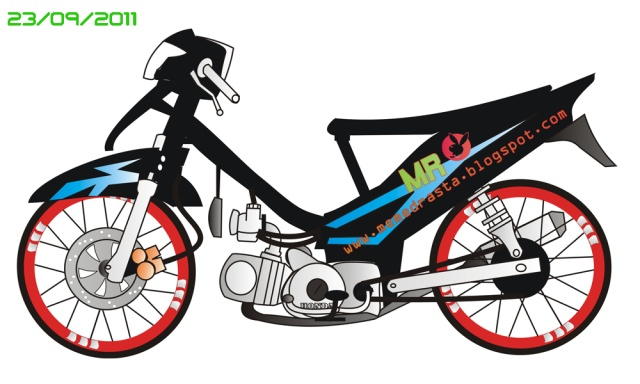 57 Gambar Lukisan Motor Drag