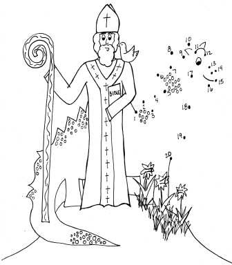 st david\'s day coloring pages | Catholic Kids: CKB 3/4/2012