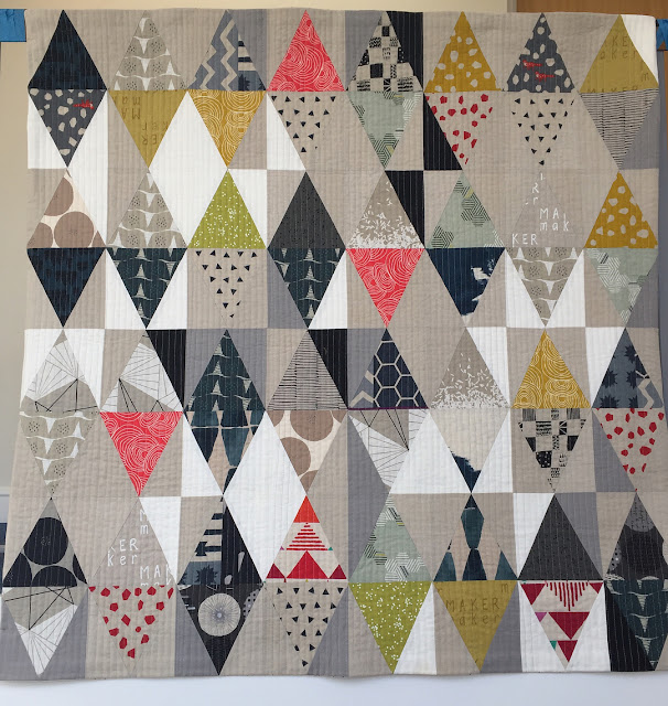 Inspiration blog post series - Triangles linen quilt by Sarah Hibbert