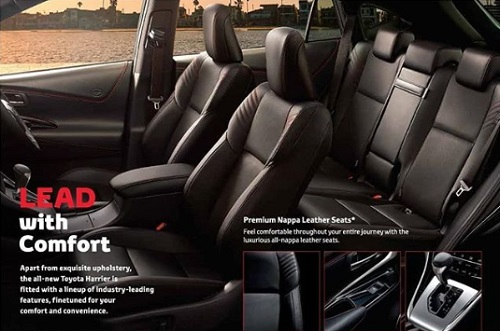 Interior Design Toyota Harrier Facelift