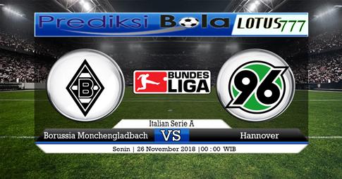PREDIKSI Borussia Monchengladbach vs Hannover 26 NOVEMBER 2018