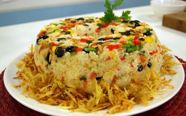 Receita de arroz com bacalhau e pimentão (Imagem: Reprodução/Entretenimento)