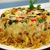 Receita de arroz com bacalhau e pimentão