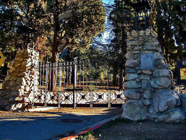 Las Flores Canyon lies behind the ruins of the old Cobb Estate in Altadena.