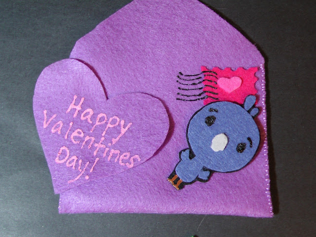 Felt Five Valentines Bird
