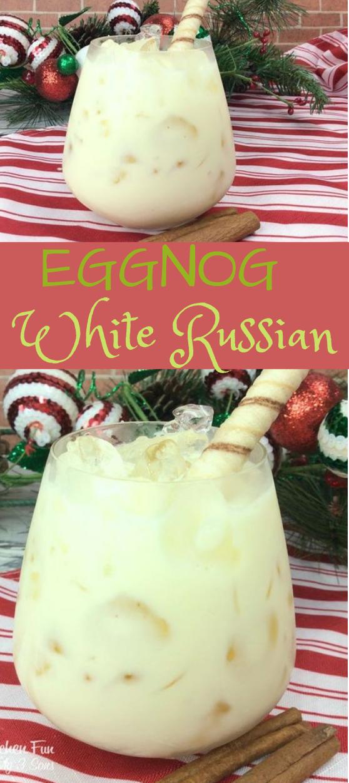 WHITE RUSSIAN EGGNOG #healthydrink #fressdrink