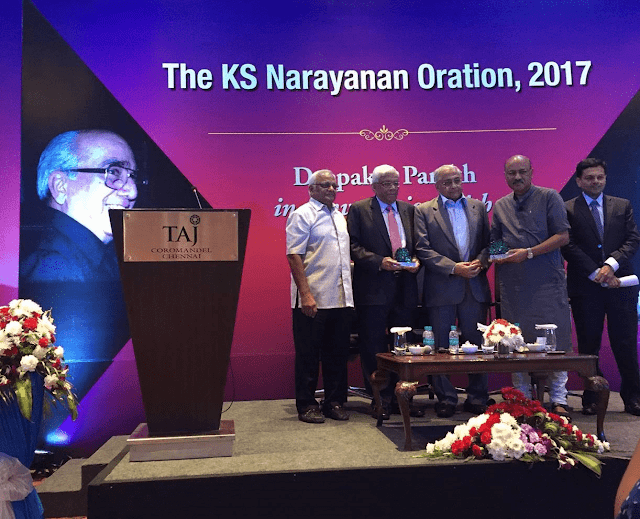L to R  Mr. N. Kumar, Mr. Deepak Parekh, Mr. Shekhar Gupta, Mr. N Shankar, Mr. Vijay Shankar