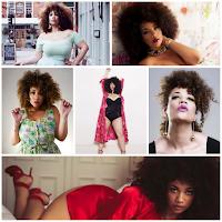 Inspiração para a Transição cabelo crespo Olivia Campbell, modelo plus size