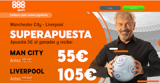 888sport superapuestas City vs Liverpool 3 enero