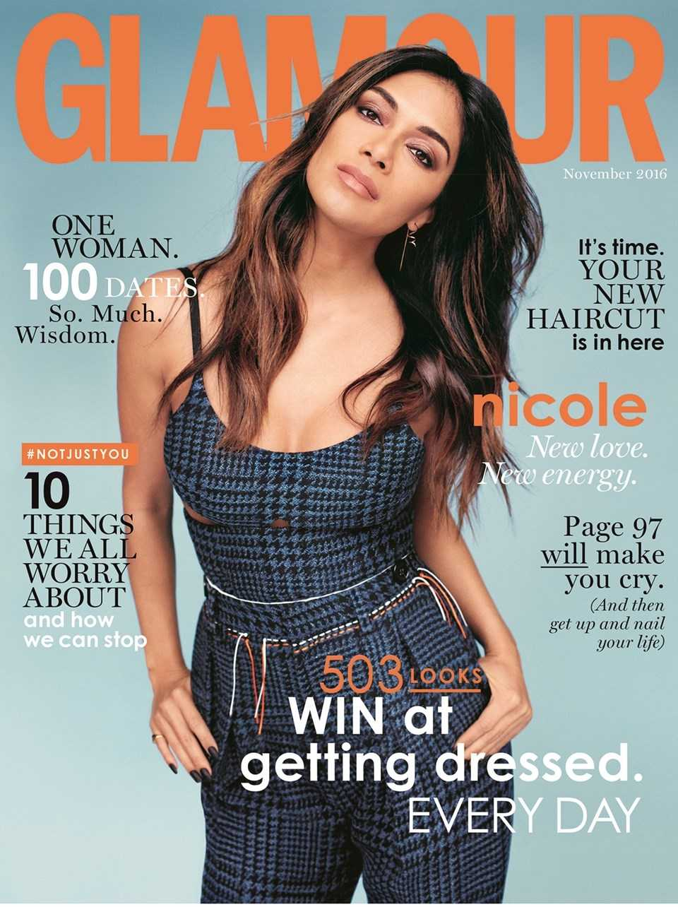 Nicole Scherzinger covers Glamour UK November 2016