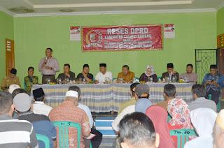 Reses DPRD, Warga Dapil 2-3 Dukung Pembangunan Ikon Tuba