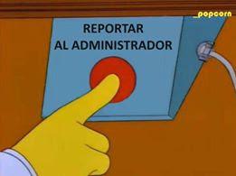 Reportar al administrador (Simpsons)