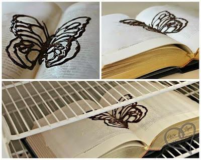 mariposa en libro