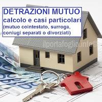 calcolo delle detrazioni per il mutuo casa