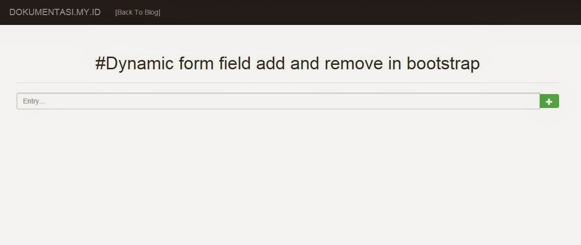 dynamic form field add and remove in bootstrap