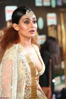 Apoorva in Cream Deep Neck Choli Ghagra WOW at IIFA Utsavam Awards 2017  (Telugu and Kannada) Day 2  Exclusive