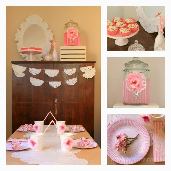 DIY Vintage Lace Party: Budget Party Ideas from Love That Party. All the DIY tutorials to re-create the inexpensive party decorations featured in the photo shoot. Great kid's party planning resource.