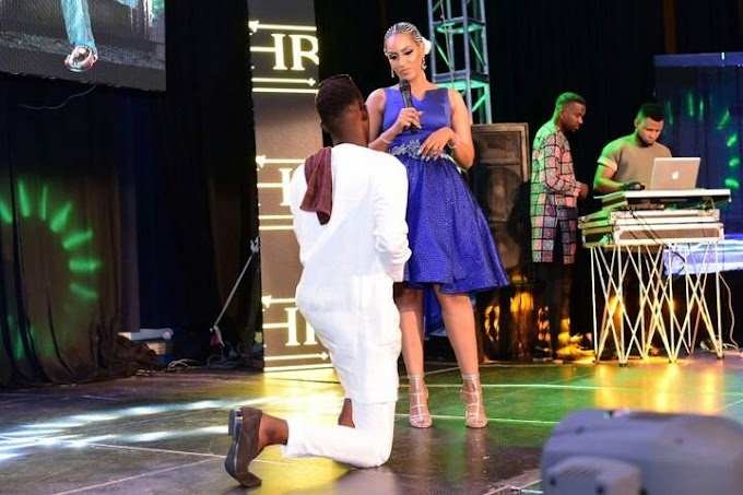 CELEBRITIES:  Mc Pajay Proposed to Juliet Ibrahim on stage